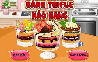 Game làm bánh trifle độc lạ