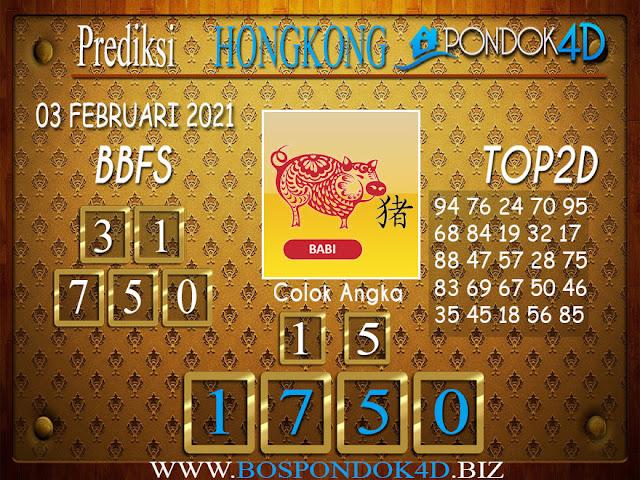 Prediksi Togel HONGKONG PONDOK4D 03 FEBRUARI 2021
