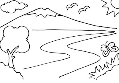 Gambar pemandangan alam gunung