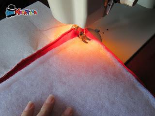 cucire tutte le parti con macchina per cucire