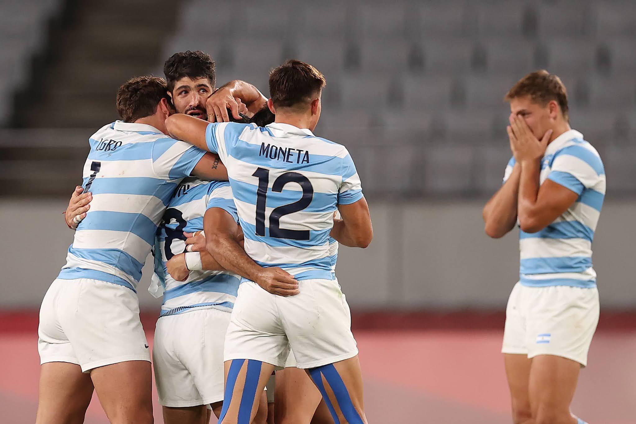 Argentina es semifinalista en Rugby Seven tras vencer a Sudáfrica 19 a 14 y jugará ante Fiji