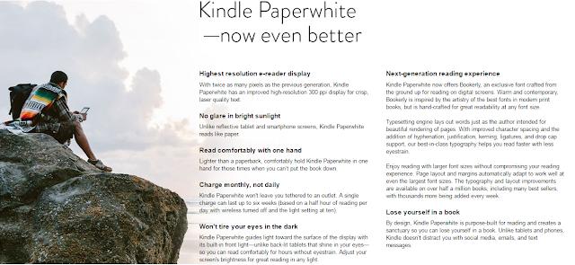 Kindle Paperwhite E-reader Capture