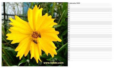 cetak kalender sendiri