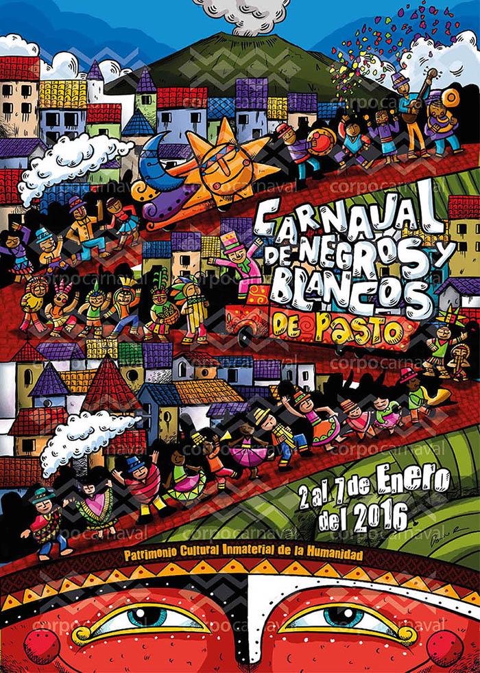 Afiche Oficial Carnaval de Negros y Blancos de Pasto 2016