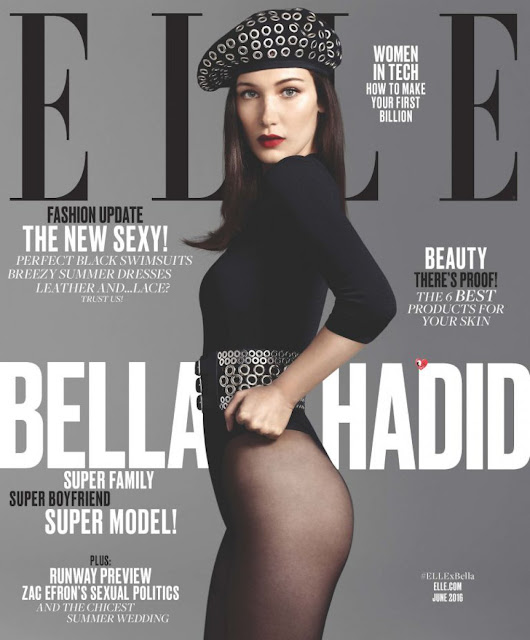 Fashion Model, @ Bella Hadid for Elle US, June 2016