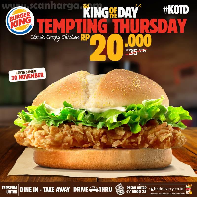 Burger King Promo KOTD: Harga Spesial Hari ini hanya Rp 20.000*5