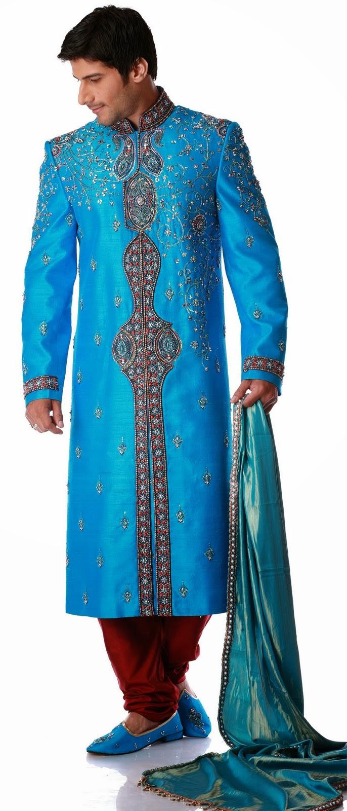 Beauty And Fashion Blue Sherwani