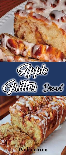 Apple Fritter Bread Recipe #Cake #Bread