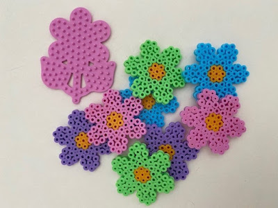 Hama bead small flower pegboard to make magnets