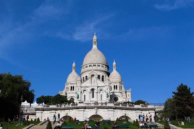 Photo de la basilique du Sacré-coeur de Montmartre à Paris