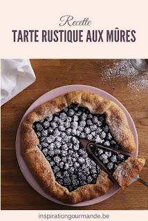 Recette de la tarte rustique aux mûres