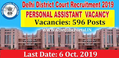Delhi District Courts Recruitment 2019