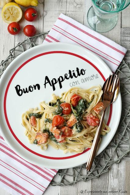 Spinat-Lachs-Pasta | Rezept | Essen | Kochen