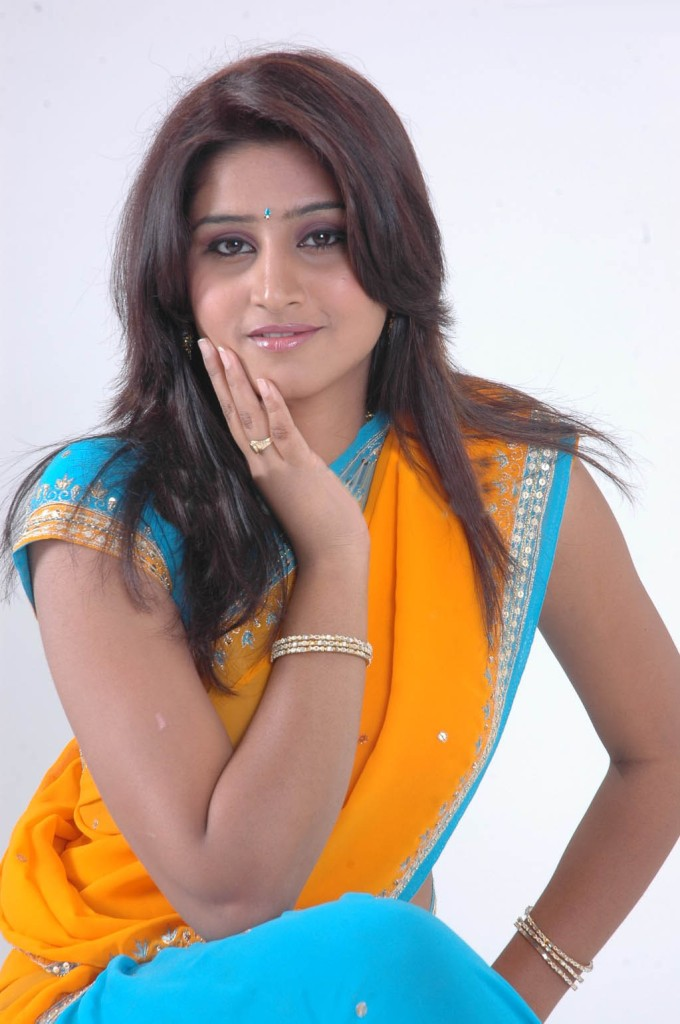 Shamili Hot Photos In Yellow Half Saree