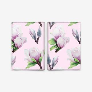 Oblogka s printom magnoliya na rozovom | Inna Yakuskeva's blog