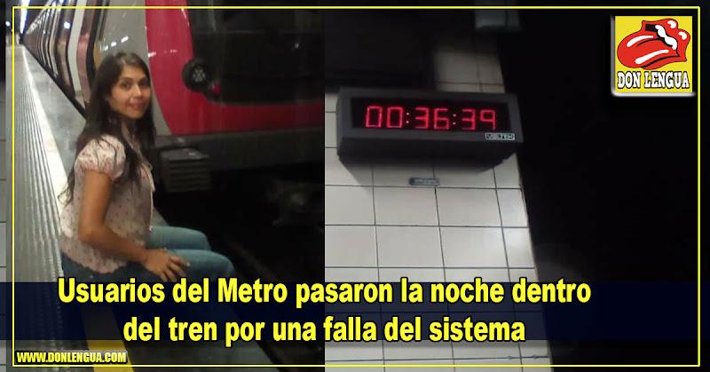 Usuarios del Metro pasaron la noche dentro del tren por una falla del sistema