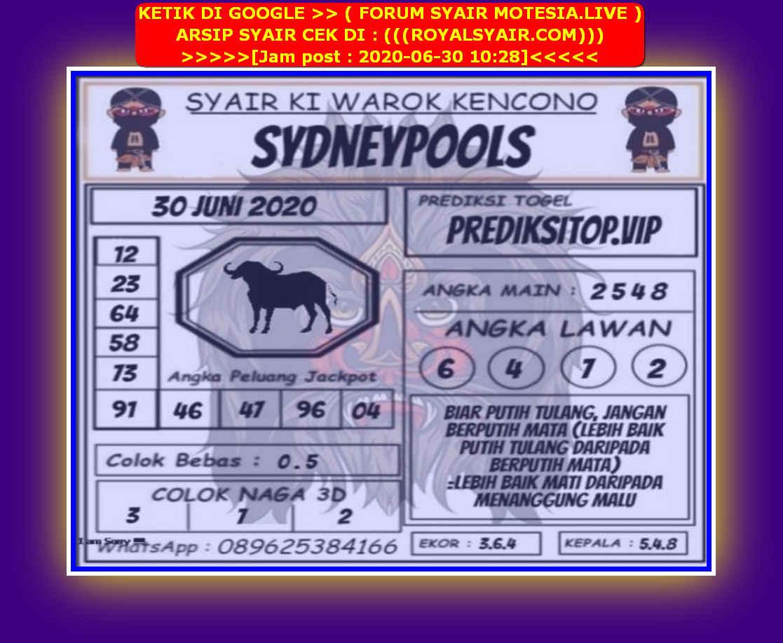 Kode syair Sydney Selasa 30 Juni 2020 156