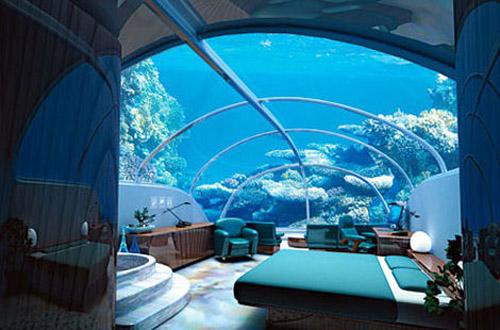 Blue Bedroom Decorating Back 2 Home - Habitaciones-con-piscina-dentro