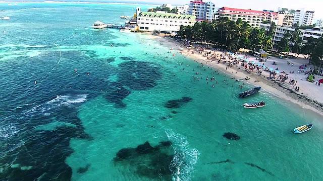 Volta na ilha de San Andrés com as crianças