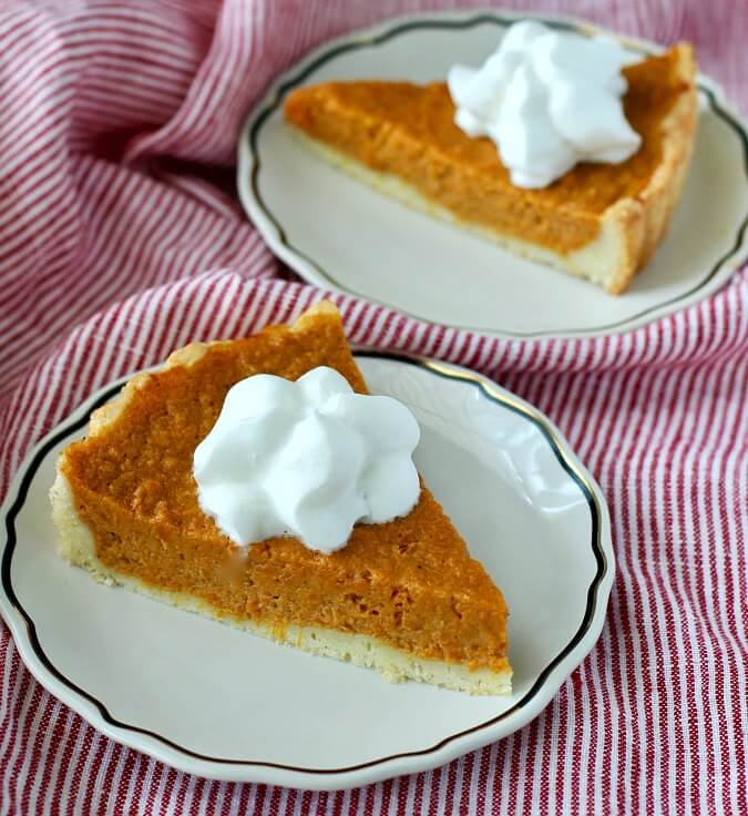 Sweet Potato Tart with whipped cream