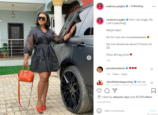 I am single and I am not Searching- Mercy Aigbe reveals