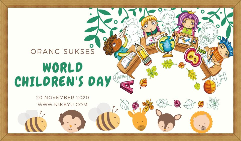 Twibbon Poster  Hari Anak Sedunia [ World Children's] 2020 | PNG | JPG