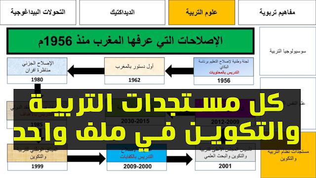 كل مستجدات التربية والتكوين في ملف واحد pdf