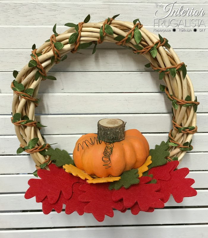 DIY Fall Dollar Store Wreath In 5 Minutes