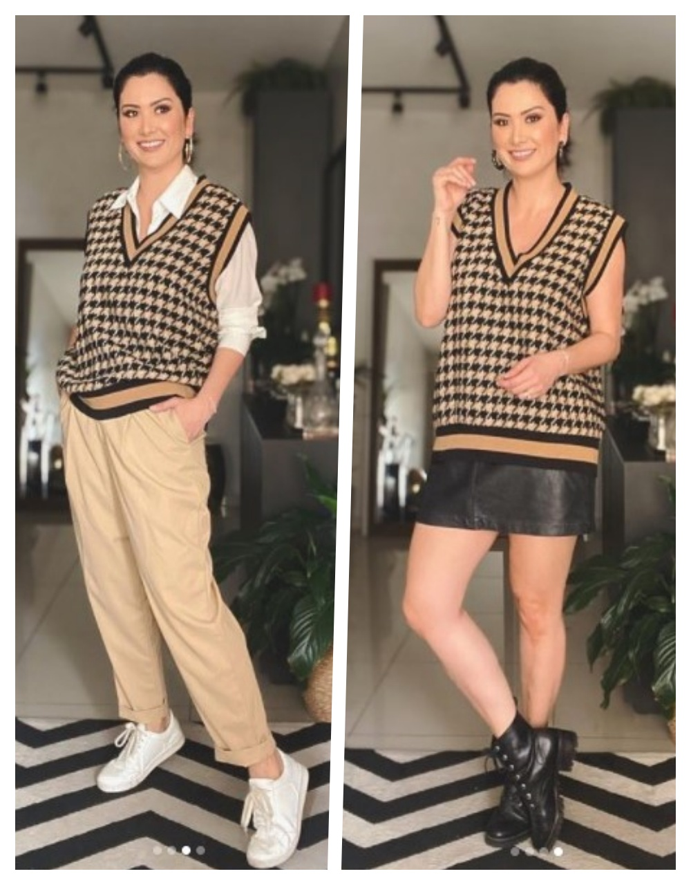 colete de tricô tendência looks