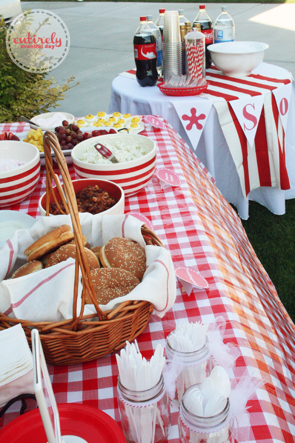 Red And White Retro Barbecue Party Ideas Entirely