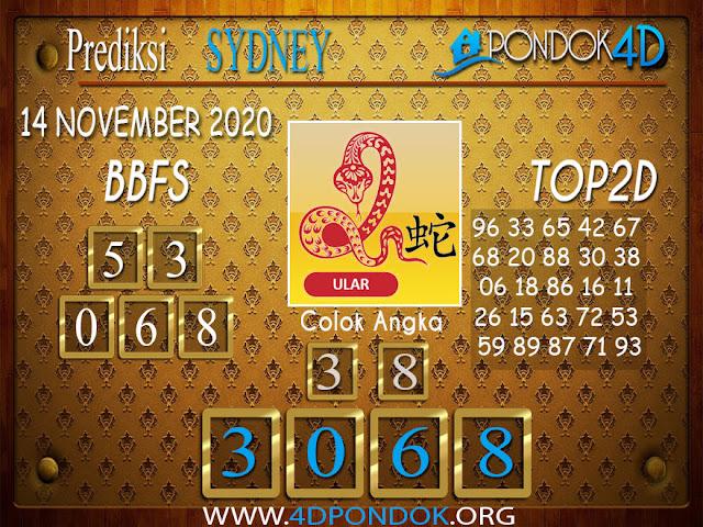 Prediksi Togel SYDNEY PONDOK4D 14 NOVEMBER 2020