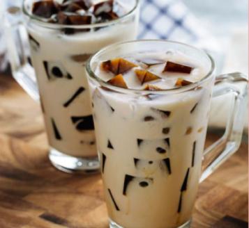 Begini Cara Membuat Coffee jelly susu almond