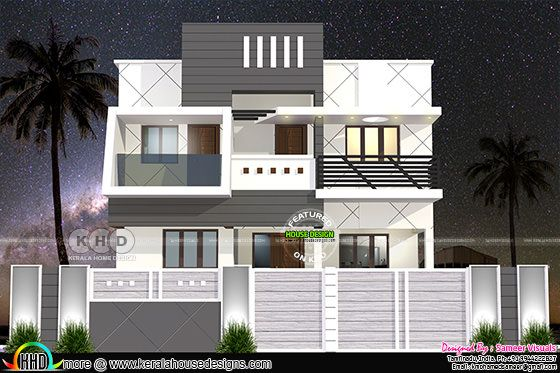 Modern south Indian home design
