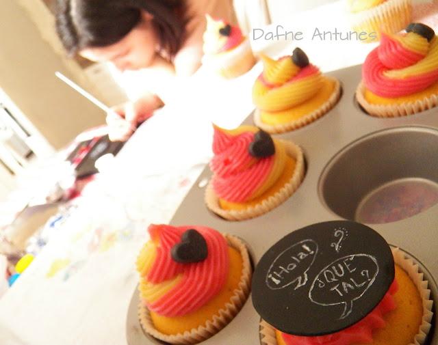 cupcake de quadro negro coração - chalkboard cupcake heart