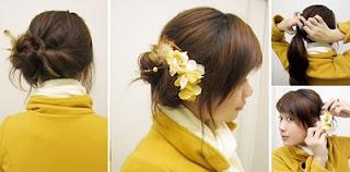 Model Cara Mengikat rambut wanita korea