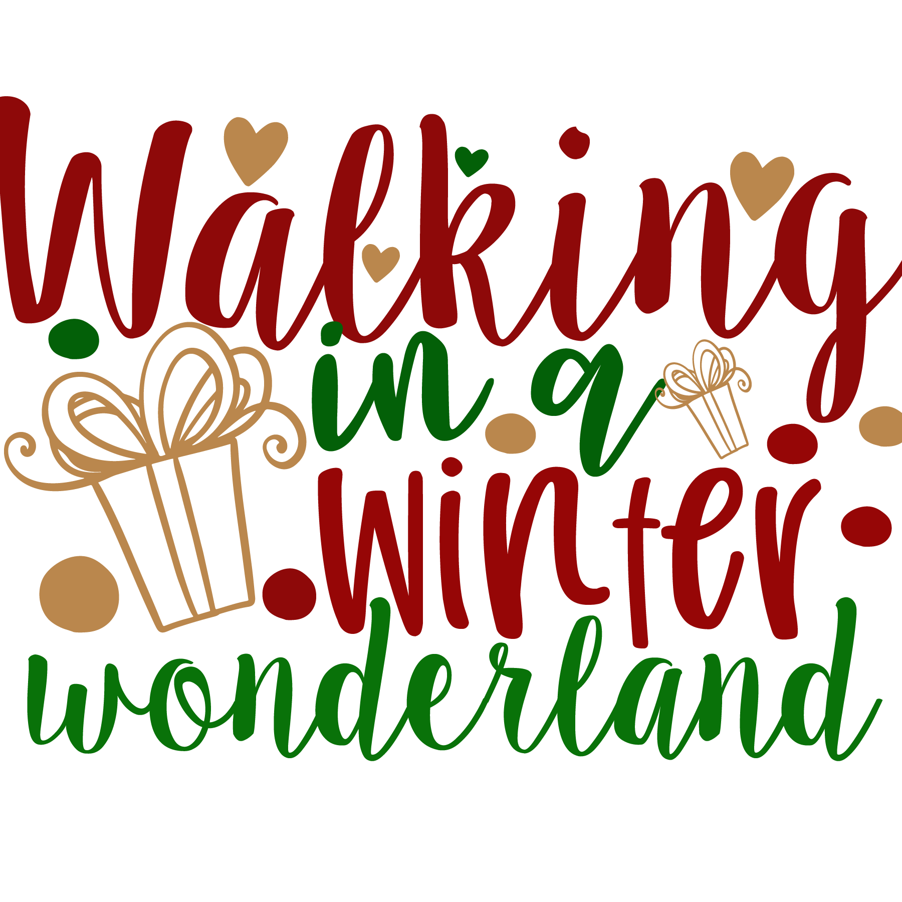Nalking in a Winter Wonderland SVG Cut Files