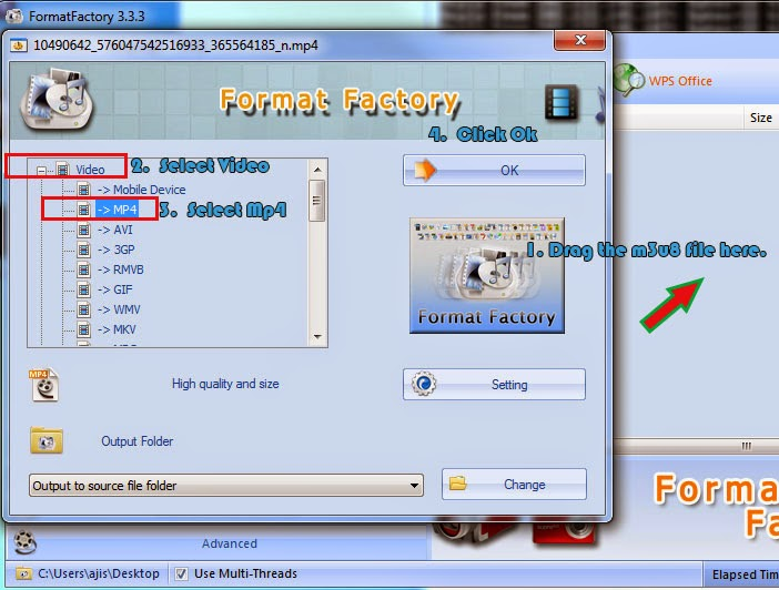 How to play and convert m3u8 video file