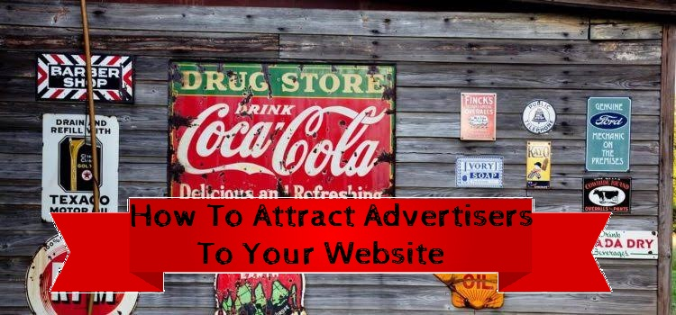 get advertisers on your website