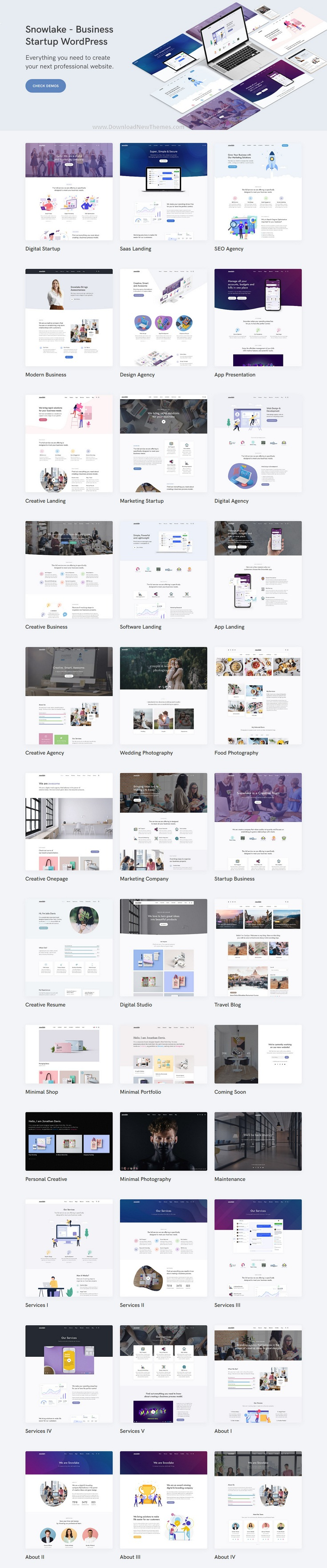 Creative Business & Startup WordPress Theme