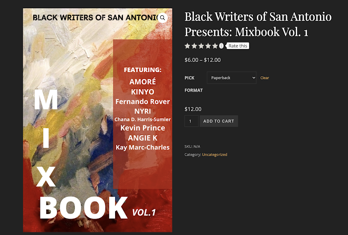 """Black Writers of San Antonio have written works in the """"Mix Book Vol. 1"""" - Top Seller"""
