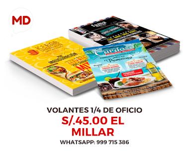 ✔️ VOLANTES 1/4 OFICIO S/.45.00