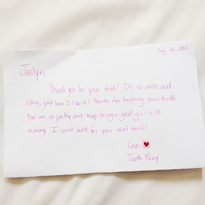 Tooth Fairy Letter Idea
