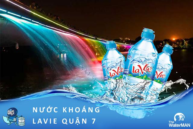 Đại lý đặt nước khoáng Lavie, Viva bình 20L, thùng đóng chai ở Quận 7