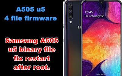 Samsung Galaxy A50 4 File Flash File Download + Fix Auto Restart File Free Download
