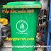 Thùng rác nhựa 240 lít mẫu mới nắp kín-xanh