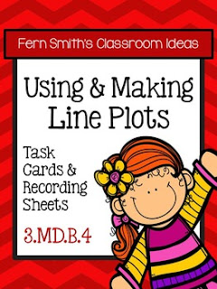 Fern Smith's Classroom Ideas Using and Making Line Plots Task Cards, Recording Sheets and Answer Keys at TeacherspayTeachers.
