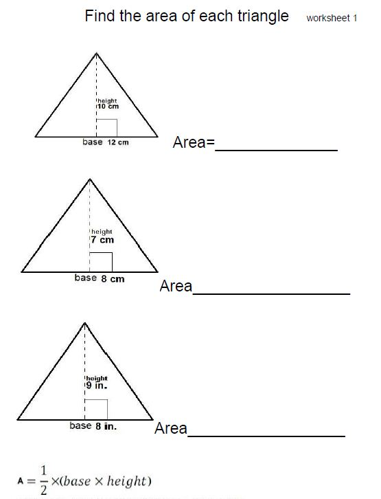 Mr. Howards ESOL Math: 6th 4.1 Triangles and Area