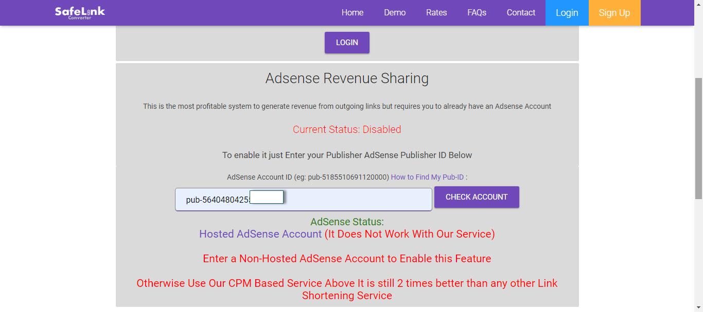 safelink adsense