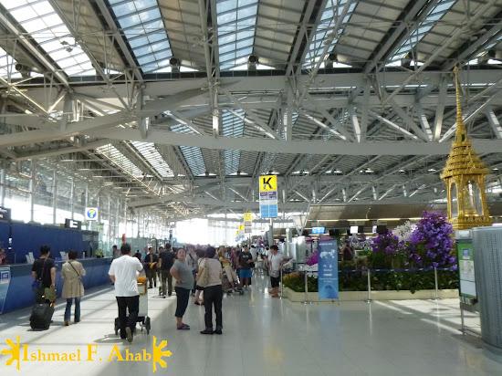Inside Suvarnabhumi Airport in Bangkok, Thailand