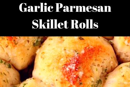 Garlic Parmesan Skillet Rolls